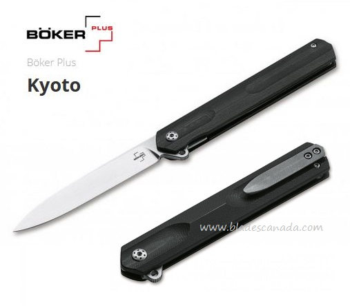 Boker Plus Kyoto Flipper Folding Knife, D2, G10, 01BO241