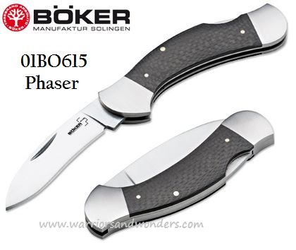 Boker Plus 01BO615 Phaser, Carbon Fiber Handle (Online Only)