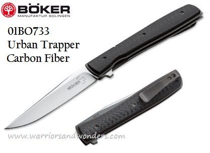 Boker Plus 01BO733 Urban Trapper VG-10, Carbon Fiber handle