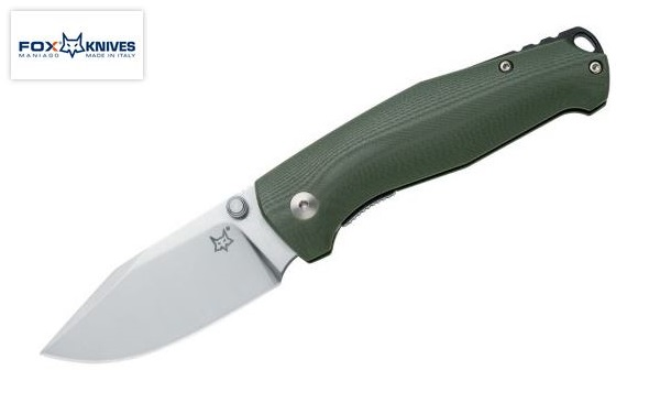 Fox Italy TUR OD Green, N690, G10 Linerlock Folder, 01FX833 (Online Only)