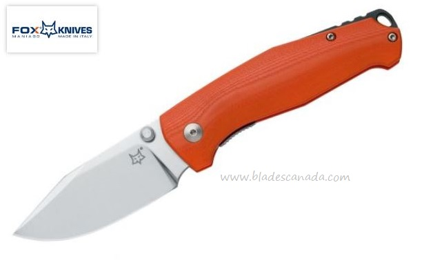 Fox Italy TUR Orange G10, N690, Linerlock Folder, 01FX834