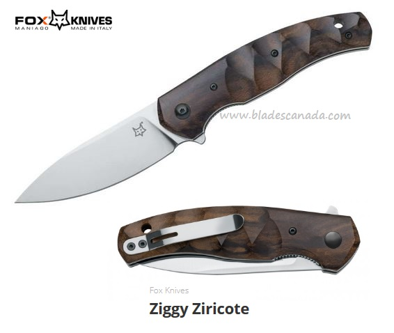 Fox Italy Ziggy Ziricote, N690 Steel, Flipper Folder, 01FX836