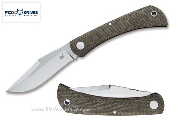 Fox Italy Libar Micarta, M390 Steel, Slipjoint Folder, 01FX846