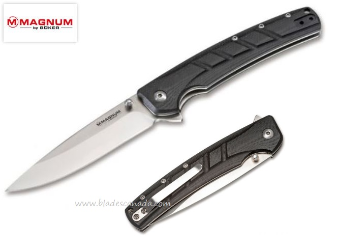 Boker Gatto Nero Linerlock Flipper Folding Knife, 01MB724