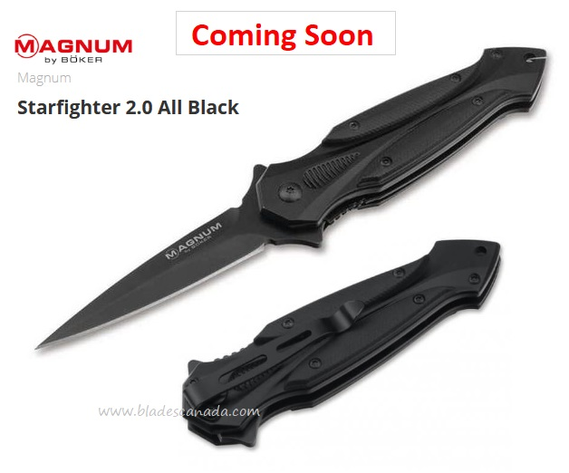 (Coming Soon) Boker Magun Starfighter 2.0 Flipper Folding Knife, G10, Assisted Opening, 01RY269