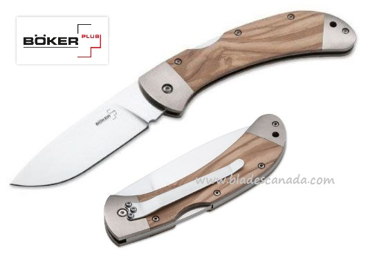 Boker Plus 01BO085 Olive Wood, 440C Folding Knife