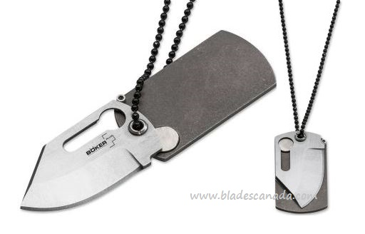 Boker Plus 01BO210 KTK Neck Folding Knife, Titanium Handle (Online Only)