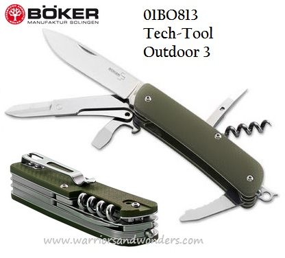 Boker Plus 01BO813 Tech-Tool Outdoor 3 Folder (Online Only)
