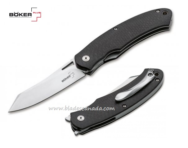 Boker Plus Takara CF, D2 Flipper Folder, Carbon Fiber, 01BO894