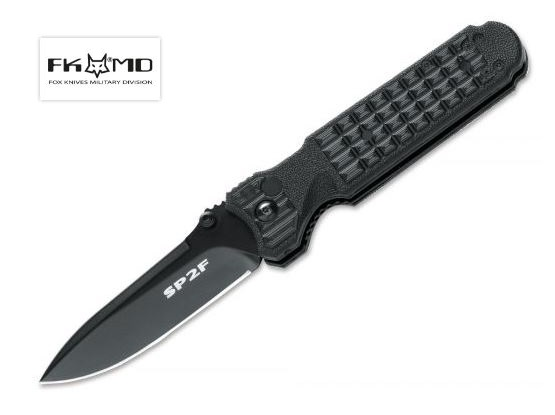 Fox Italy FX446B FKMD Predator II Black N690 Folding Knife