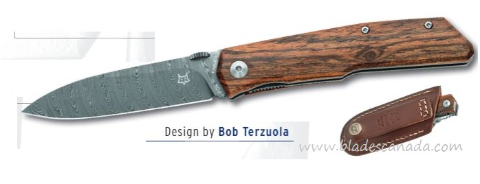 Fox Italy FX525DB Terzuola Bocote Damascus Folding Knife