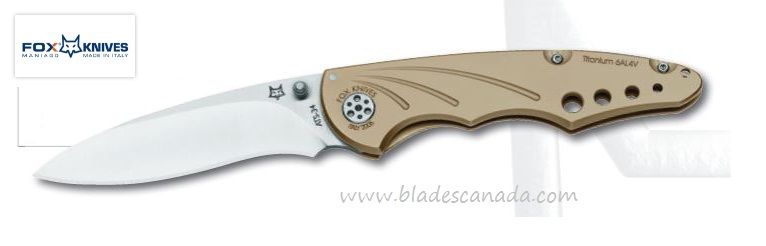 Fox Italy FX180B 180B ATS-34 Titanium Folding Knife