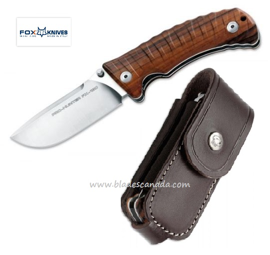 FOX 130DW Pro Hunter Wood Folding Knife N690 Italy
