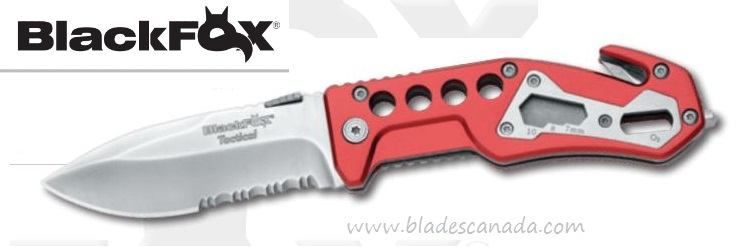 BlackFox BF-117 Tactical Rescue Folding Knife w/Glass Breaker