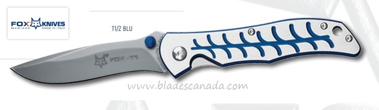 Fox Italy FXT1/2 BLU Terzuola Folder Blue, Aluminum Handle