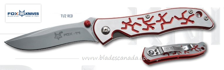 Fox Italy FXT1/2 RED Terzuola Folder Red, Aluminum Handle