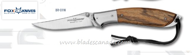 Fox Italy FXBR-011W Kommer Folding Knife, Bocote Wood