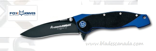 Fox Italy FX-457G10 Elishwitz Black & Blue Folding Knife