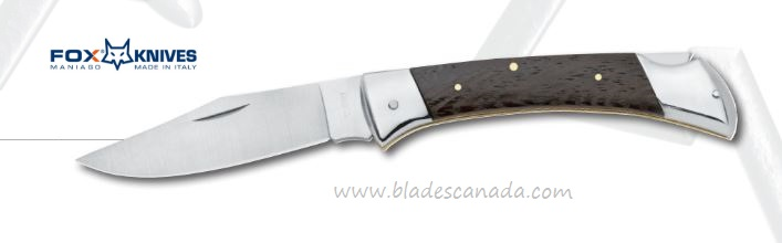 Fox Italy 316 Folding Knife, 420C, Wenge Wood 01FX189