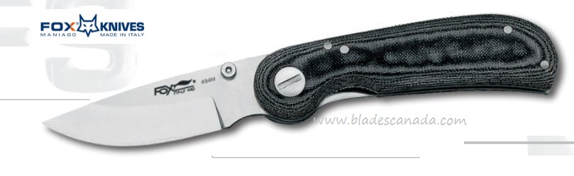 Fox Italy 494M Micarta Folder, 440C, 01FX248 (Online Only)