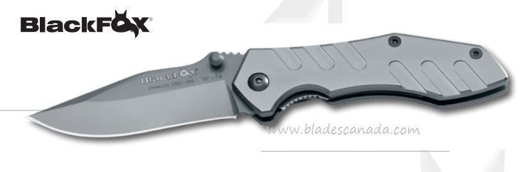 BlackFox BF74 Folder, 440A, ALuminum Handle, 01FX283