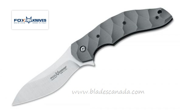 Fox Italy FX302 Anso Flipper Titan, N690, Titanium Handle