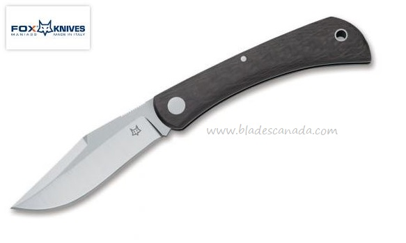 Fox Italy Libar CF, M390 Steel, Carbon Fiber, Slipjoint Folder 01FX848