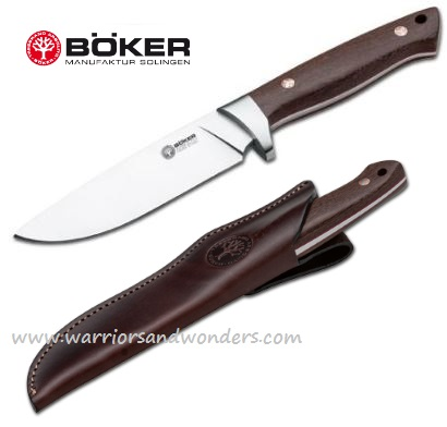Boker Arbolito Hunter Wood w/ Leather Sheath 02BA351G (Online Only)