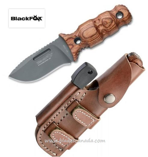 BlackFox BF-708W Pocket Panther 440C, Pakka Wood