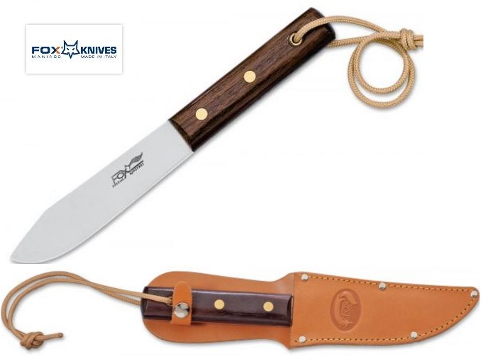 Fox Italy 02FX046 Old Fox Fixed Blade w/Leather Sheath