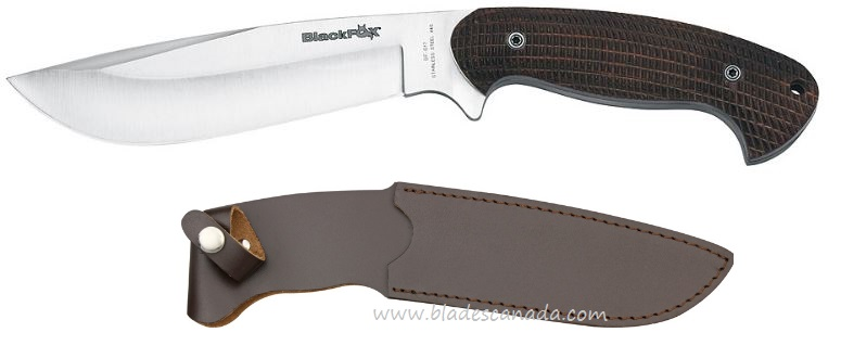 BlackFox BF-617 Hunting Knife w/ Leather Sheath