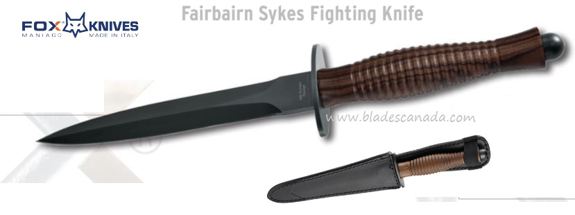 Fox Italy 592W Fairbairn Sykes N690 Walnut Handle