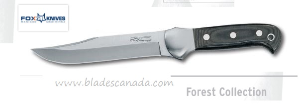 Fox Italy FX614 Forest Collection Micarta Handle, Leather Sheath