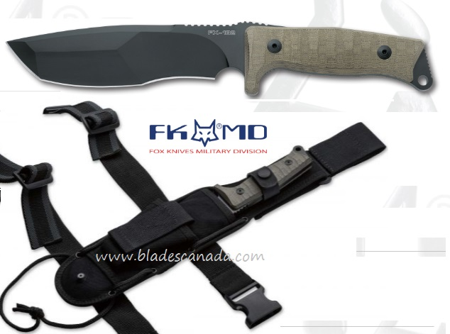 Fox Italy FX132MGT Trapper, N690, Micarta Handle, Nylon Sheath