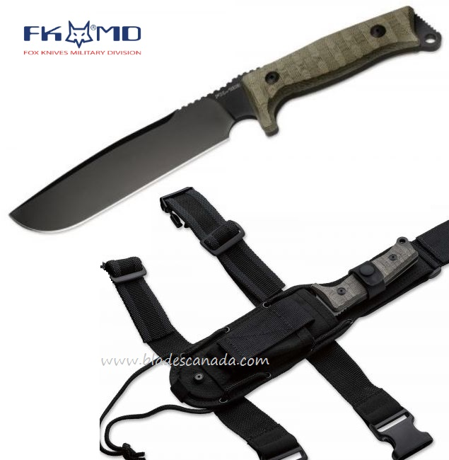 Fox Italy FX133MGT Combat Jungle, N690, Micarta Handle
