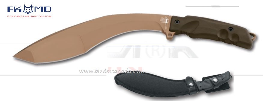 Fox Italy Extreme Tactical Kukri, N690 w/Sheath, 02FX9CM05BT