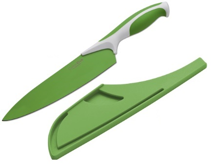 "Boker Kitchen Chef's Knife Apple Green 8"" w/ Guard (Online Only)"
