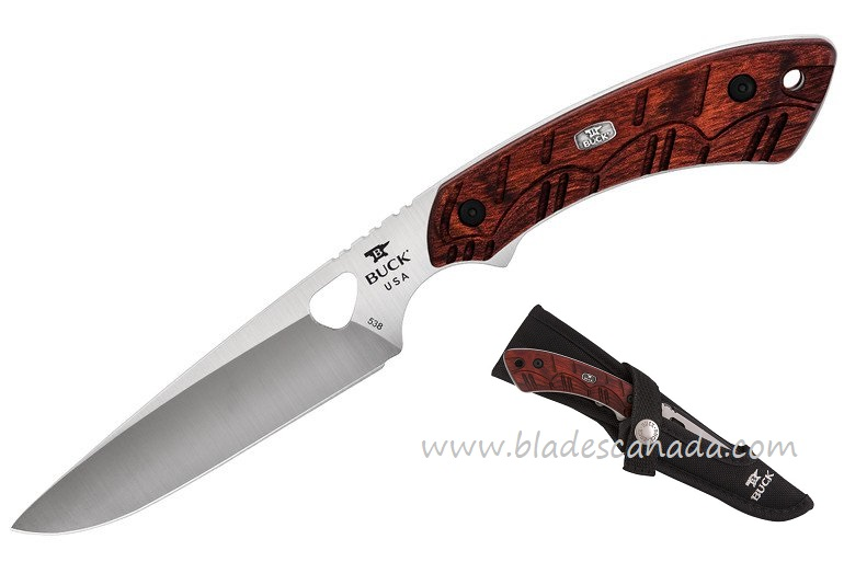 Buck Knives 0538RWS Open Season Small Game Knife- Red Wood