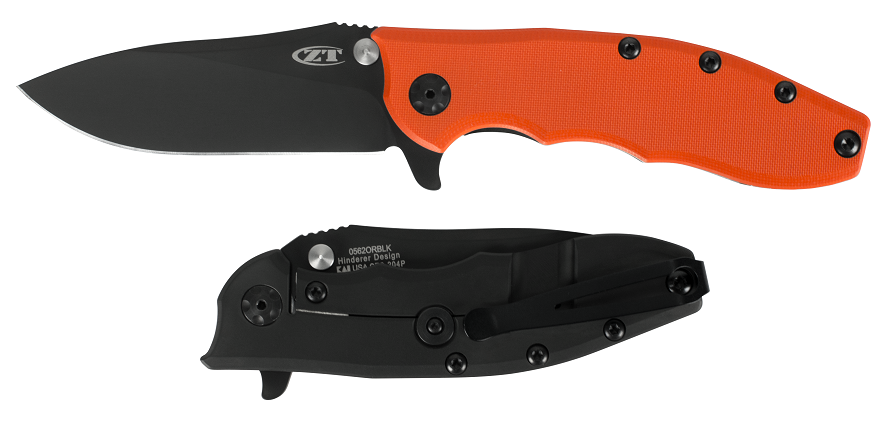 Zero Tolerance ZT562ORBLK Hinderer 204P Orange G10 Ltd Edition