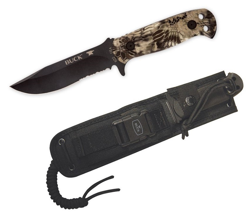 Buck Knives 0822 Sentry Fixed Blade With MOLLE Sheath