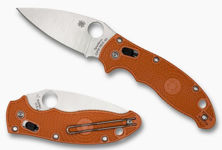 Spyderco Manix 2 FRN REX 45 Burnt Orange Sprint Run