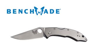 Benchmade Titanium Handle Mini Pika II Plain Edge
