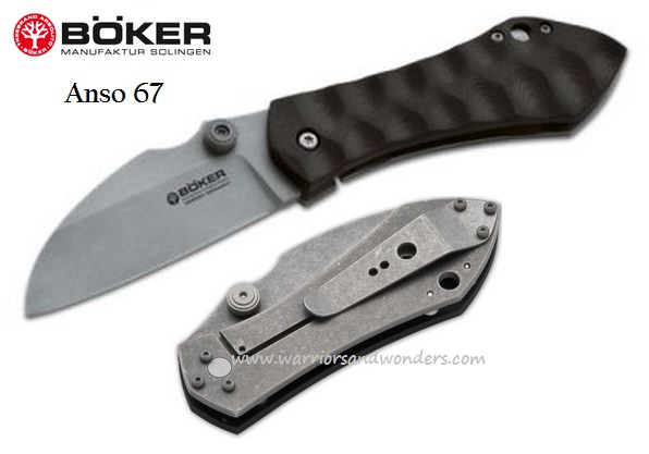 Boker Germany Anso 67 Plain Edge 110620 (Online Only)