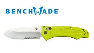 Benchmade 111SH2OYEL Dive Knife with Serration,Yellow Handle