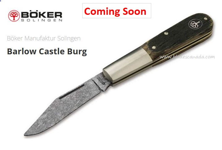 (Coming Soon) Boker Germany Barlow Castle Burg, O1 Steel, Oak Wood, 113941