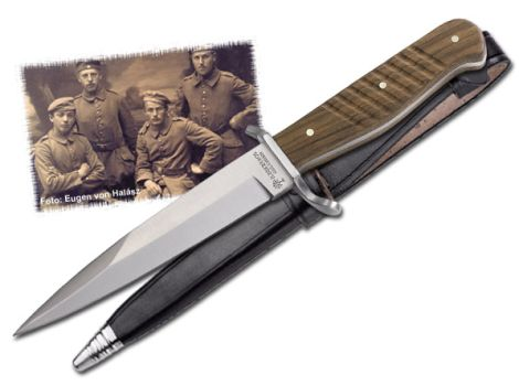Boker Germany - 1915 Trench Knife w/Leather 121918