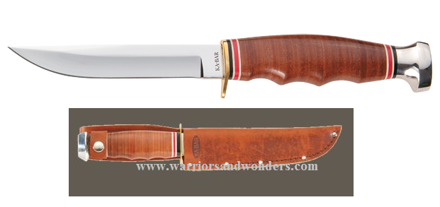 Ka-Bar 1232 Hunter w/Tan Leather Sheath
