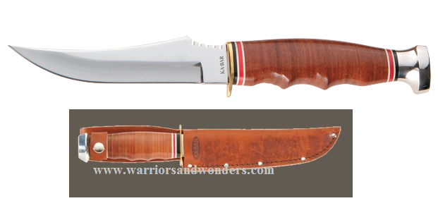 Ka-Bar 1233 Skinner w/Tan Leather Sheath