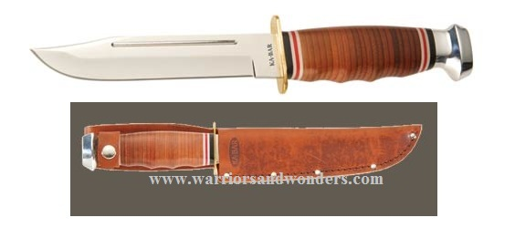 Ka-Bar 1235 Marine Hunter w/ Tan Leather Sheath