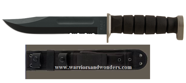 Ka-Bar 1281 D2 Extreme Fighting Knife w/Cordura Military Sheath